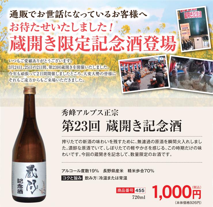 蔵開き記念酒2018POP